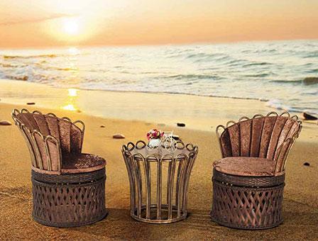 迪拜编藤桌椅
