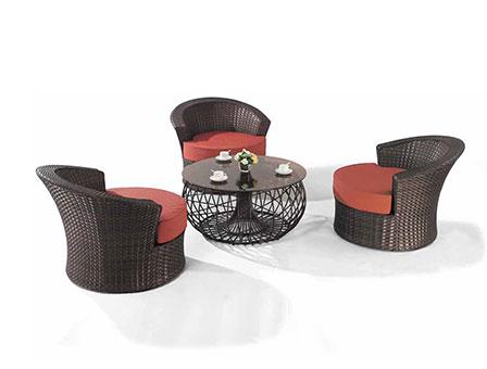 迪拜编藤桌椅系列