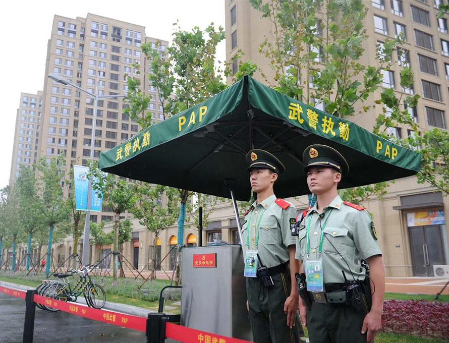 中国武警站岗台
