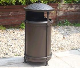 高端设计铸铝垃圾桶